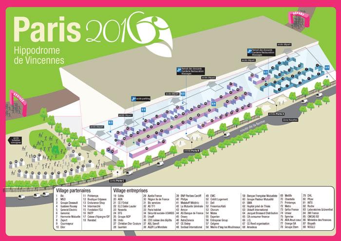 Odyssea - Course Paris - 2016 - Parcours 4 km