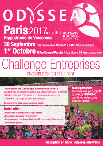 Pour plus d'information : Par mail : Contact@odyssea.info Ou sur le site : http://www.odyssea.info/course/paris/