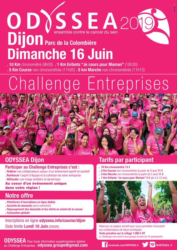 Course Odyssea - Dijon 2019 - challenge entreprises