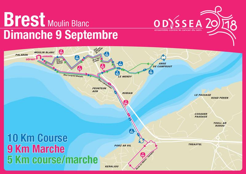 Odyssea - Brest 2018 - Parcours