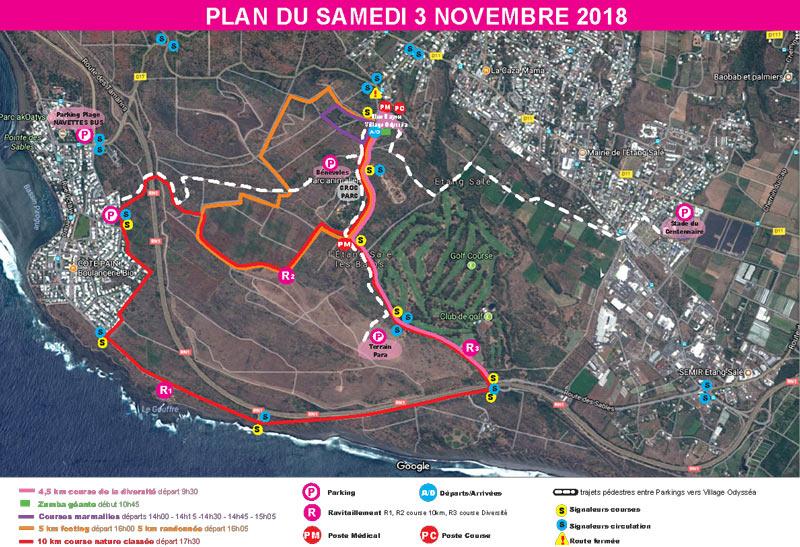 Odyssea - La Reunion 2018 - Parcours - Samedi