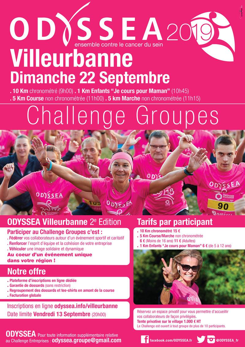 Course Odyssea - Villeurbanne 2019 - challenge groupes