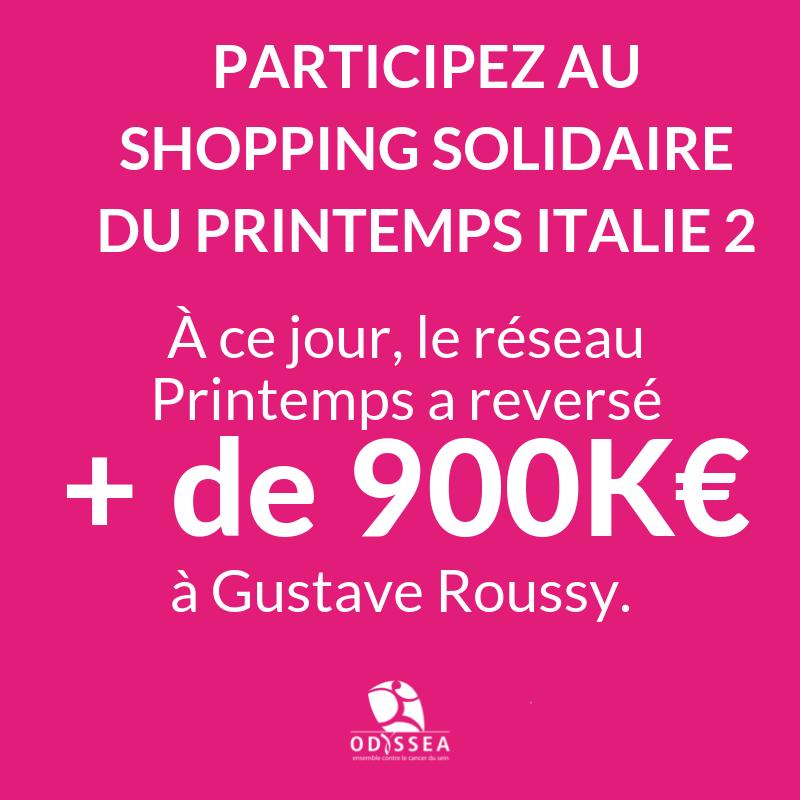 Le Shopping solidaire du Printemps shoppez pour lutter contre le cancer du sein