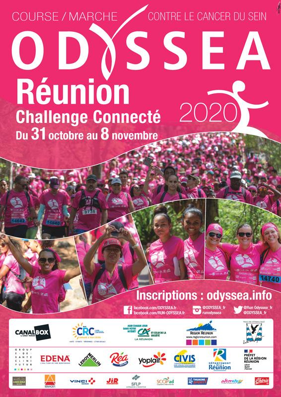 Affiche Odyssea Reunion Challenge Connecte 2020