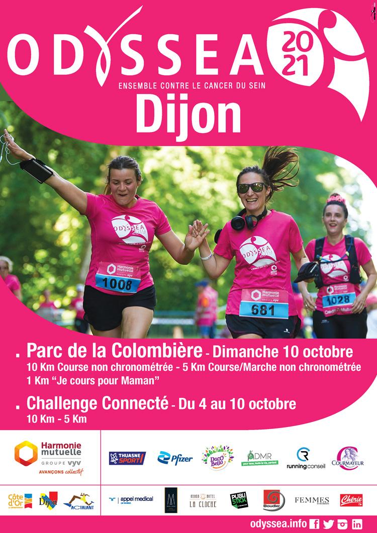 Affiche Course 2021 - Odyssea Dijon